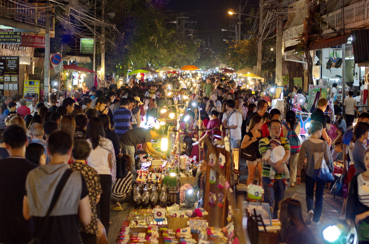 Sunday Walking Street Chiang Mai Thailand