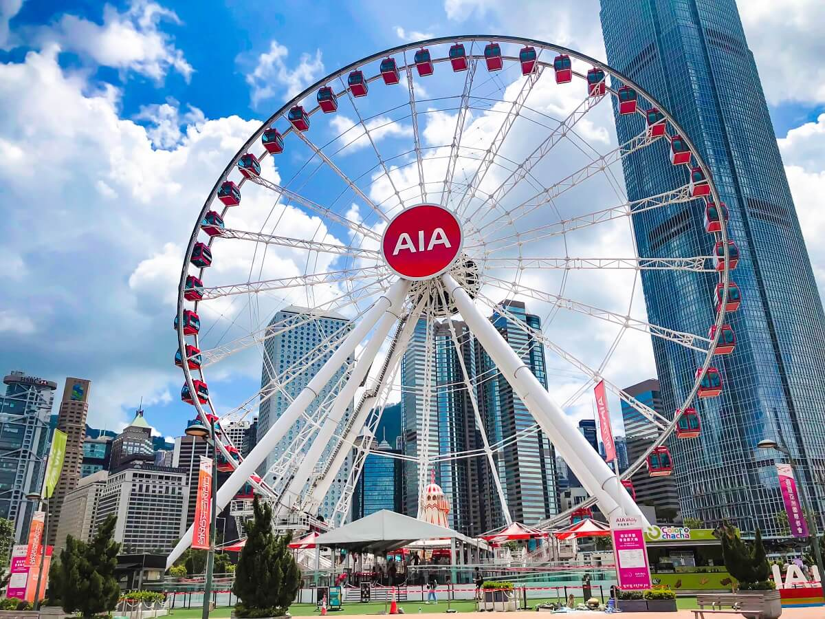 The Hong Kong Observation Wheel and AIA Vitality Park - Gambar Foto Tempat Wisata Terkenal di Hong Kong